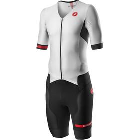 Castelli Free Sanremo 2 Tri Suit korte mouwen Heren, white/black